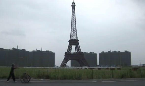 VIDEO. In Cina han costruito una città clone di Parigi