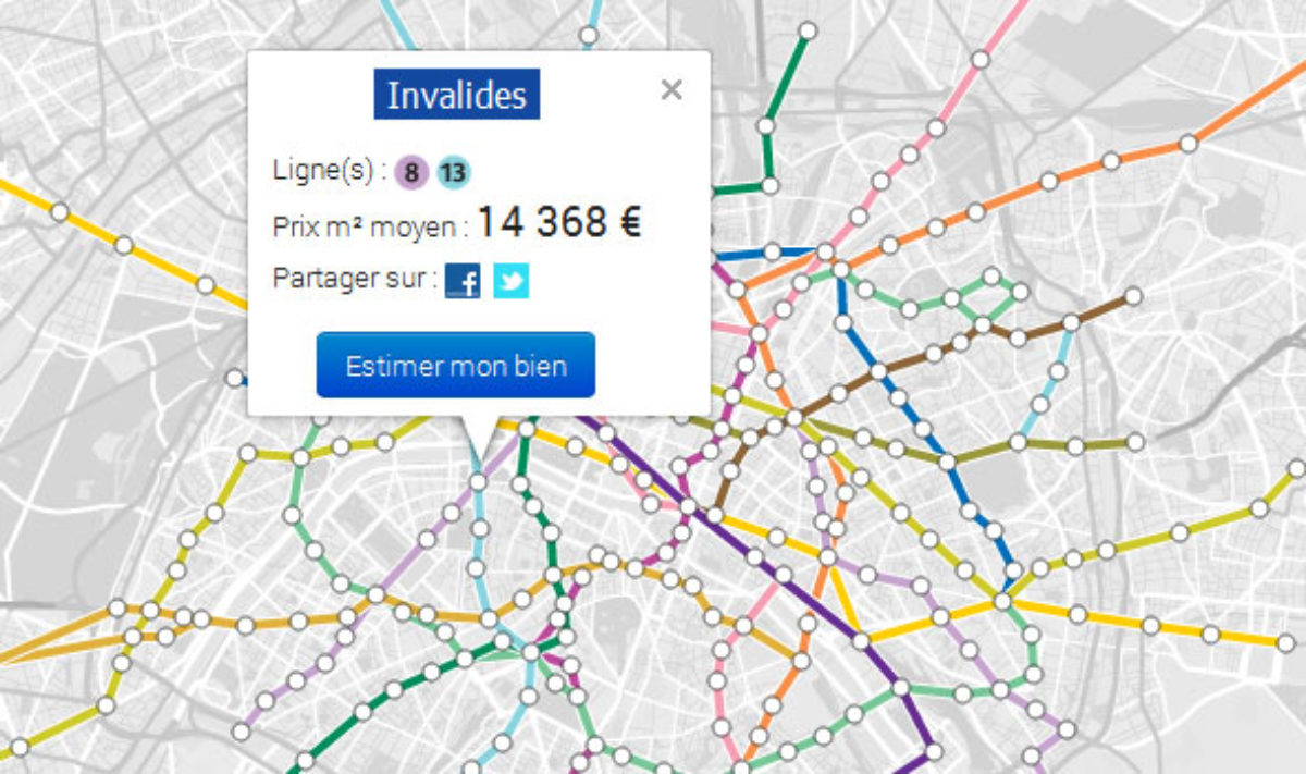 Parigi Cartina Monumenti.Parigi La Mappa Dei Prezzi Degli Immobili In Base Alle Stazioni Metro