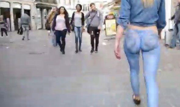 VIDEO. Lille, la modella è nuda ma nessuno se ne accorge