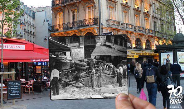 Parigi durante la seconda guerra mondiale: le foto d'epoca inserite in quelle dei giorni nostri