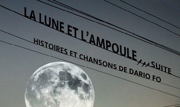 La lune et l'ampoule