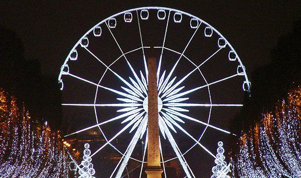 Natale 2015: La ruota panoramica in Place de la Concorde