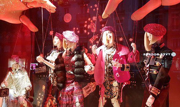 Natale 2016: le vetrine dei grandi magazzini Lafayette e Printemps Haussmann