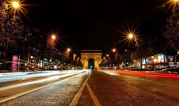 Capodanno 2015 sugli Champs-Elysees (sotto l'Arco di Trionfo)