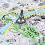 La mappa di Parigi disegnata completamente a mano da Jenni Sparks