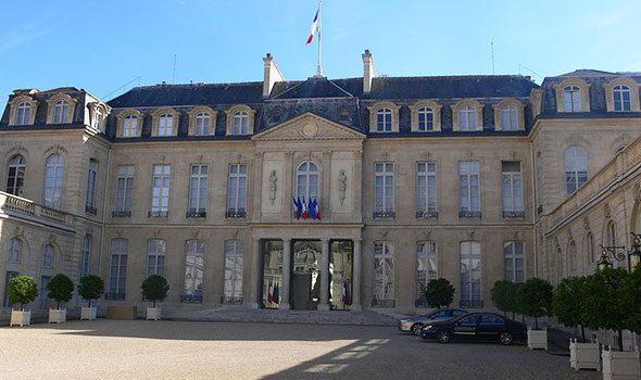 Il Palazzo dell'Eliseo a Parigi, residenza ufficiale del Presidente della Repubblica francese
