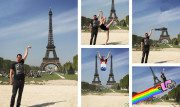 La foto di un turista davanti alla Torre Eiffel diventata virale