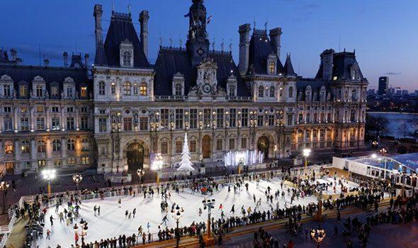 Pista di pattinaggio sul ghiaccio dell'Hôtel de Ville