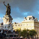 La Place de la République di Parigi e l'imponente statua della Marianne
