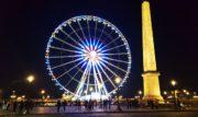 La grande ruota panoramica di Place de la Concorde a Parigi