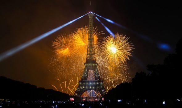 14 Luglio 2019 a Parigi: i fuochi d'artificio