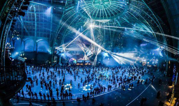 Natale a Parigi 2019: l'enorme pista di pattinaggio del Grand Palais