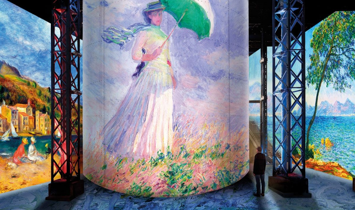 """""""Monet, Renoir... Chagall"""": l'esposizione immersiva dell'Atelier des Lumières"""